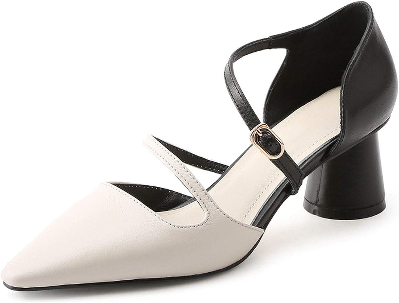 GO-SAMSARA heels Casual Buckle Genuine Leather shoes Women Sandals Summer Hing Heel ZYL2473