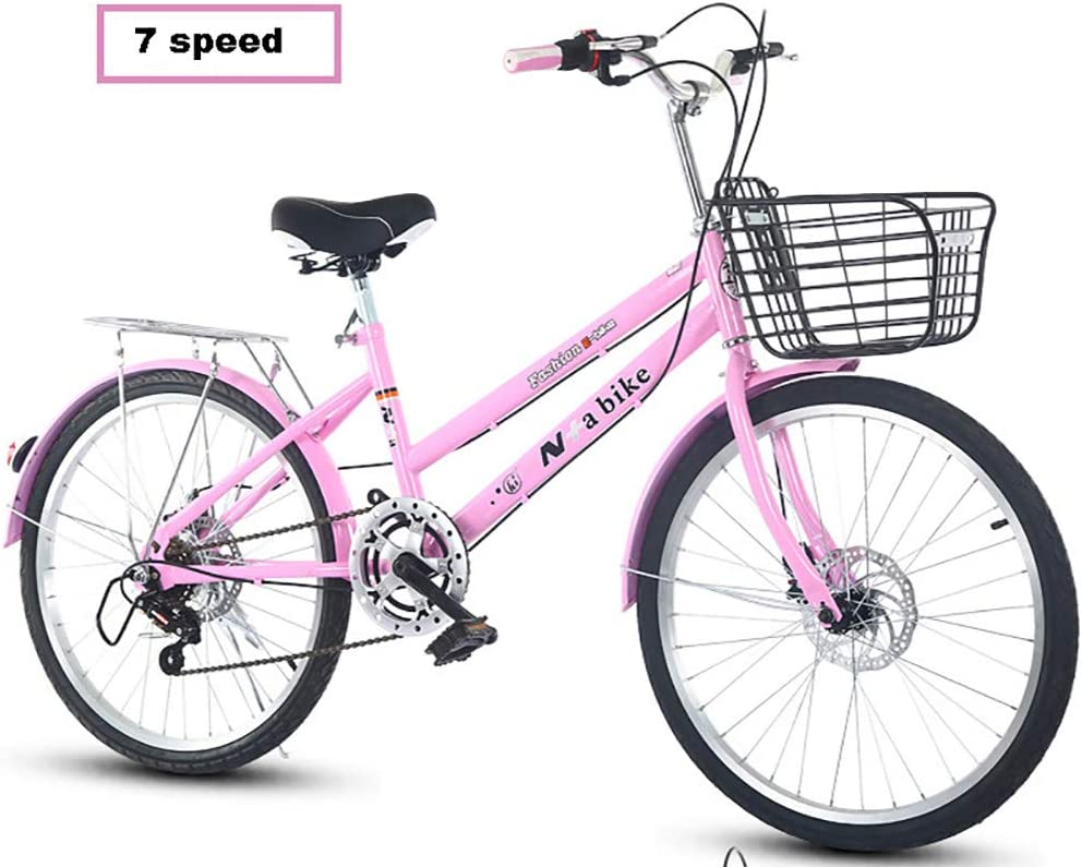 KKLTDI Foldable Bicycle,Lightweight Commuter City Bike 7 Speed Easy to Install for Adult Unisex