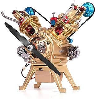 Batop Kit Moteur de Voiture, Maquette Moteur avec 2 Cylindre V2 - Miniature Engine Moteur en Métal pour Passionnés de Tech...