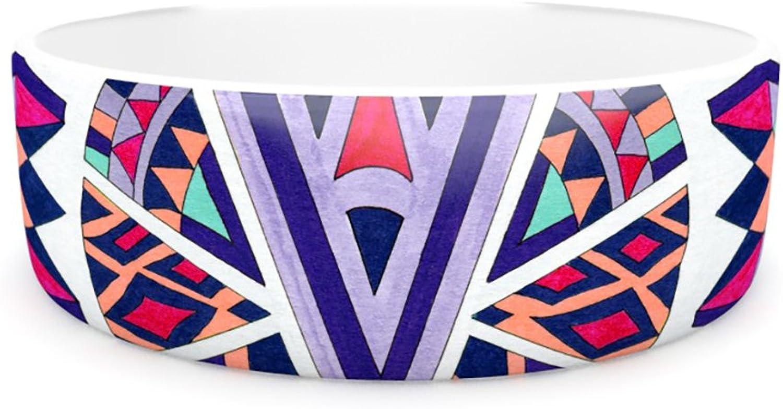 Kess InHouse Pom Graphic Design Abstract Journey  Pet Bowl, 7Inch, Circular Tribal