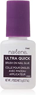 Nailene Ultra Quick Brush On Glue Pink 5g
