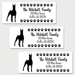 60 Personalized Doberman Pinscher Themed Return Address Labels - Dog Themed Address Labels (AL22)