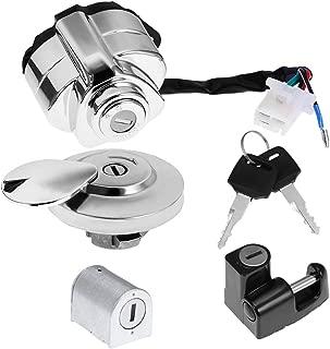 Ignition Switch Gas Cap Helmet Steering Lock Key Set Fit Honda Shadow VLX VT 750 400 600