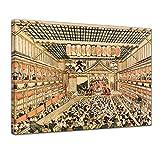 Poster - Katsushika Hokusai Kabuki-Theater in Edo 30x20 cm