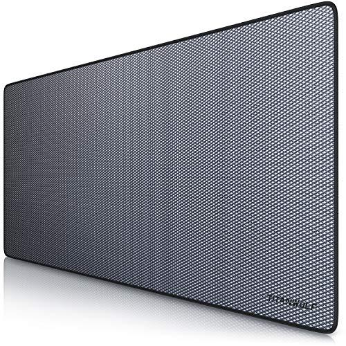 CSL - XXL Speed Gaming Mauspad Titanwolf 900 x 400mm - XXL Mousepad - Tischunterlage Large Size - verbessert Präzision und Geschwindigkeit