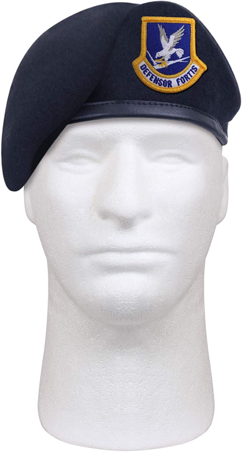 Rothco Inspection Ready Beret With USAF Flash - Midnight Navy Bl