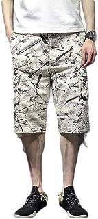 Coolred Mens Multi Pockets Outdoor Multicam Loose Capri Straight Combat Pants