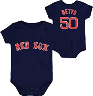 OuterStuff MLB Newborn Infants Team Color Name and Number Player Jersey Bodysuit Creeper
