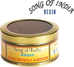 Song of India Patchouli Amber Resin Incense Powder Blend Self Burning