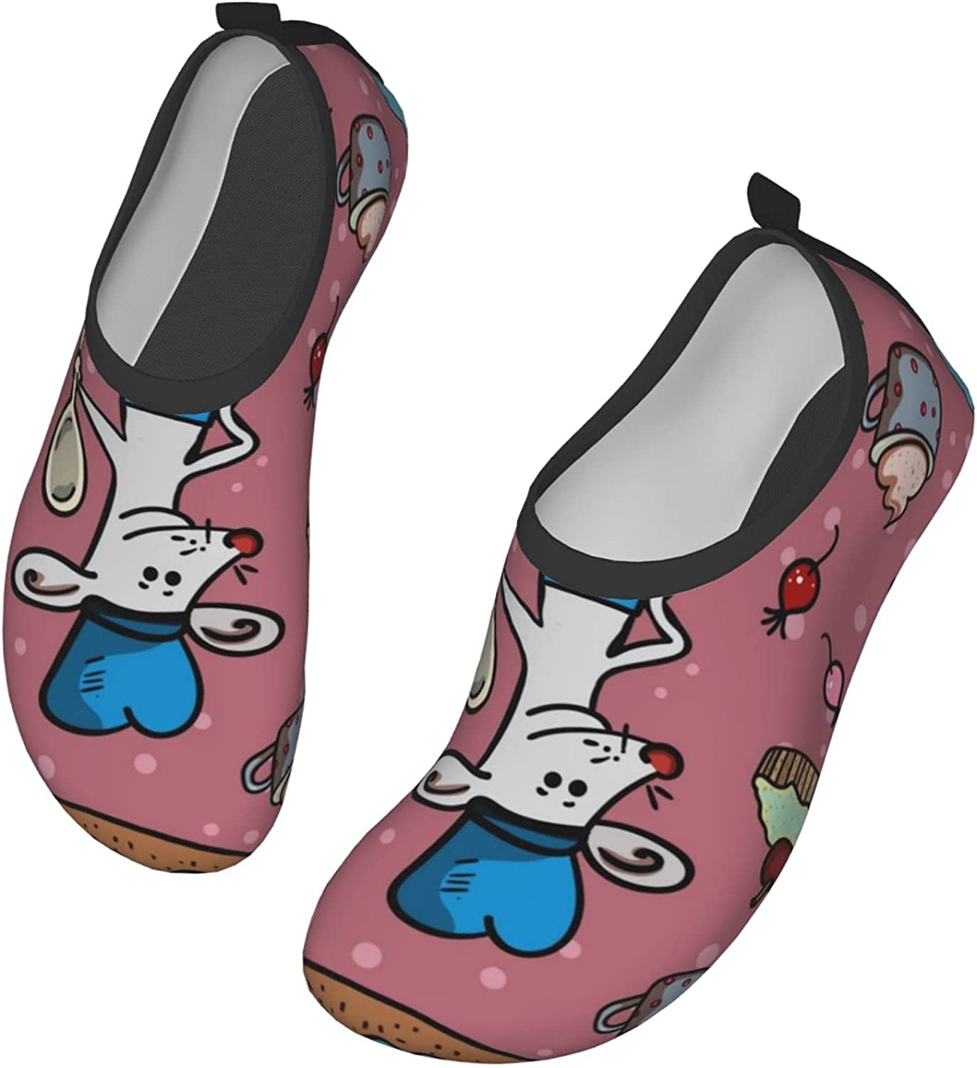 Mouse Cook in Blue Uniform Water Shoes Swim Wading Shoes Barefoot Aqua Shoes Beach Pool Surfing for Women Men