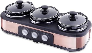 Rijstfornuis, (1.5L-300W) Huishoudelijke Drie-Pot Multifunctionele Slow Cooker, Keramische Inner Pot, Automatische Soep en...