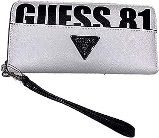 Portafoglio donna Guess zip around Lorenna SLG Large Zip Around in pvc whit colore BIANCO