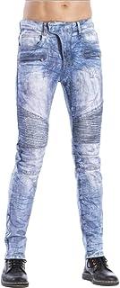 Fit Regular Design voor heren Comfortabele denimjeans, modieuze persoonlijkheid Ritsversiering Stretch Slim Jeans Streetwear