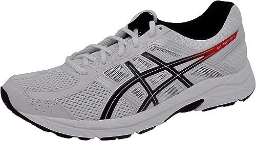 ASICS Hommes's Gel-Contend 4 FonctionneHommest chaussures blanc Classic rouge noir, 9.5 D(M) US