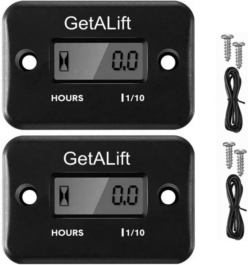 2pcs GetALift Inductive Hour overseas Meter Las Vegas Mall Marine ATV for Boat Outboard