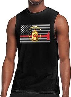 NRYDYMM Men Sleeveless T Shirt USMC Master Sergeant Retired 100% Cotton Bodybuilding T Shirt