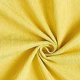Fabulous Fabrics Cord Uni – gelb — Meterware ab 0,5m