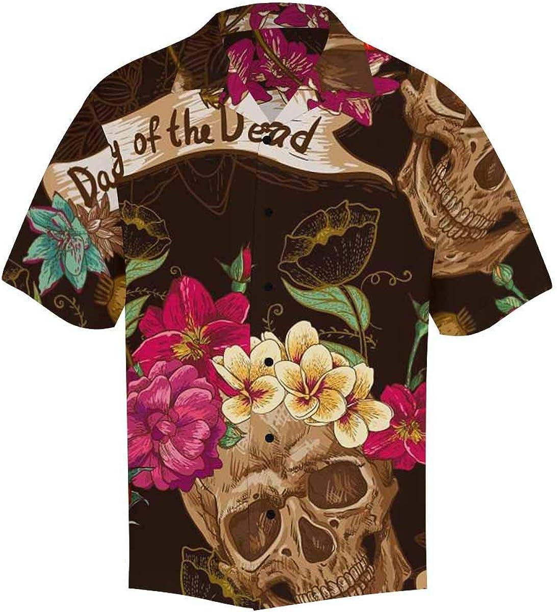 InterestPrint Men's Button Down Hawaiian Fort Worth Mall Sho 5 popular All Printing Shirts