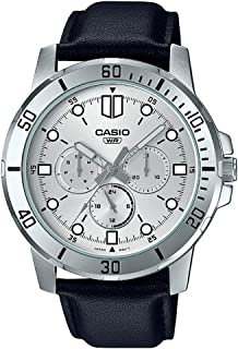 Casio Black Leather Multi function Men Watch MTP-VD300L-7EUDF