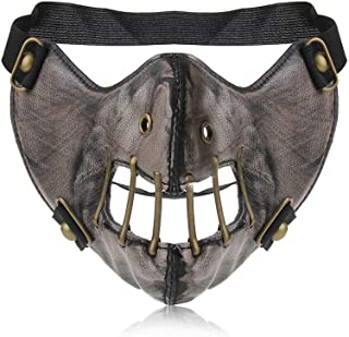 Leather Mouth Mask Cosplay River Half Face Sports Protective Punk Mask