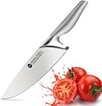 Professional Chef Knife – 8 Inch German High Carbon Steel Knife with Stainless Sharp Blade, Full Tang, Full Bolster and Ergonomic Handle for Pro Chefs and Cooking Enthusiasts
