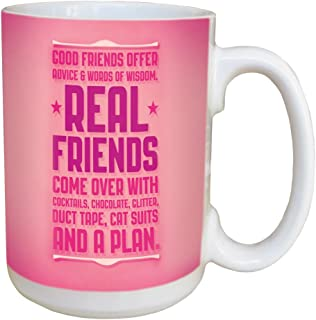 Tree-Free Greetings Angi and Silas Real Friends Ceramic Mug with Full-Sized Handle, 15-Ounce