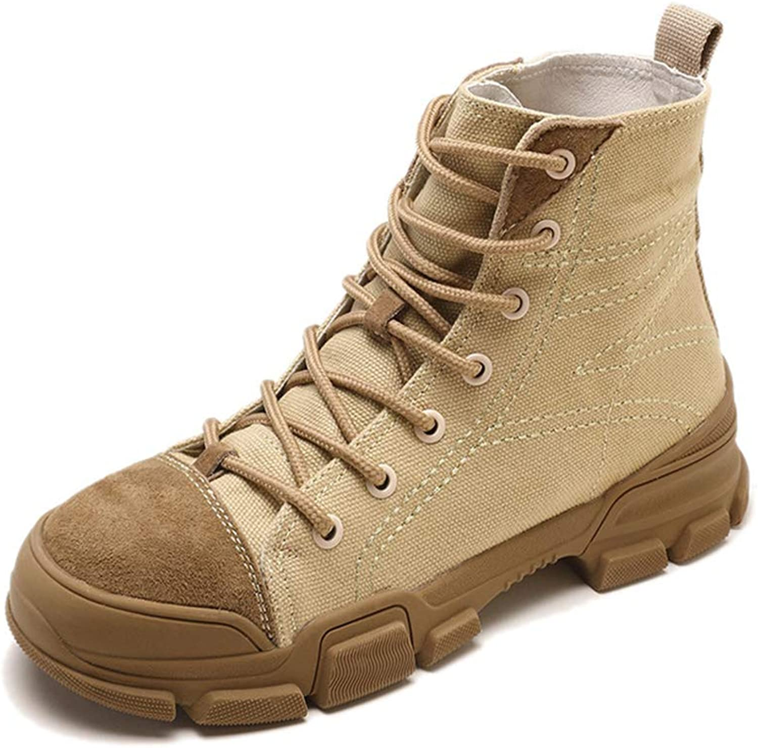 Super color Classic Women's Casual Work Boots Waterproof and Comfortable British Style Fashion Boots