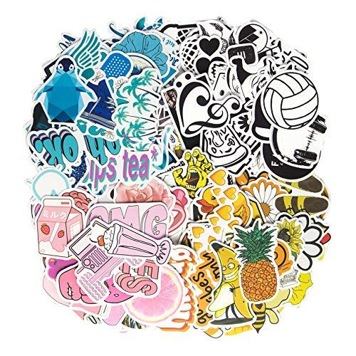 Hywean 200 Stück Süßer Aufkleber Mädchen,Vinyl VSCO Girl Aufkleber Wasserdicht für Wasserflasche, Trinkflasche, Snowboard, Gepäck, Motorrad, Wand, DIY Party, Vier Farbaufkleber