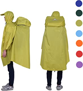 Adventure World Globotrekker Lightweight Backpack Poncho (Multiple Color Options Available) (Moss Green)
