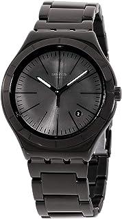 ساعة سواتش ايروني كوارتز مينا سوداء للرجال YWB404G