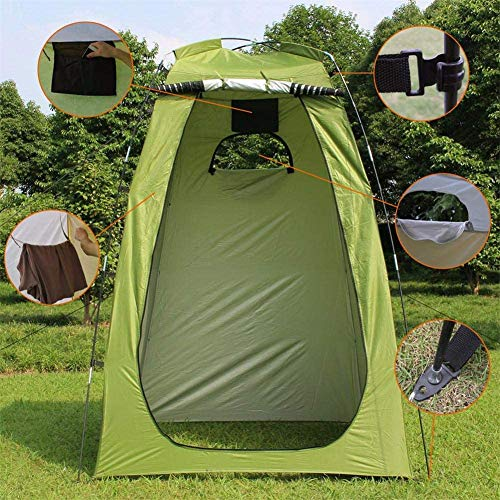 YDXH Pop-Up Tent, Camping Tent, Shower Tent, Private Shower Tent, Changing Room, Camping Shower, Camping Toilet, Toilet Tent, Portable Toilet, Camping Shower, Outdoor Tent,Green