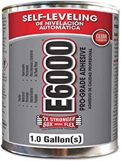 E6000 244021 Low Viscosity Adhesive, Clear, One gallon