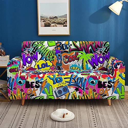 HXTSWGS Gruesa Protección de Muebles,Fundas de sofá de Colores 3D, Fundas elásticas Elásticas seccionales para Sala de Estar Funda de sofá en Forma de L-BDW71_3 plazas 190-230cm