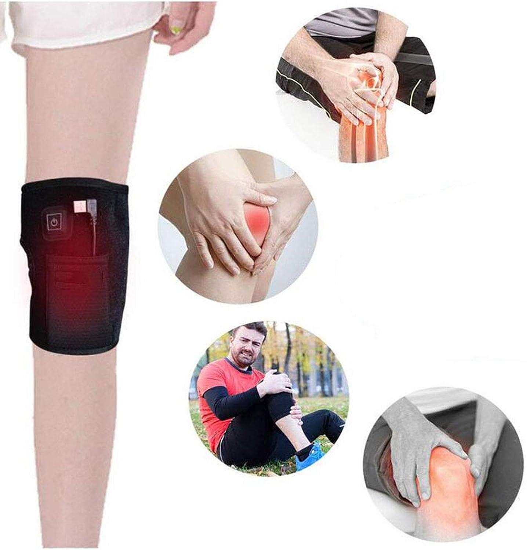 YEMEIGA Elektrische Knie Physiotherapie Pads Warme Beindrucktherapie Massagegert Müdigkeit Linderung Knchel Arthritis Schmerzlinderung Verletzung (3 Temperatureinstellung) 2 STüCKE