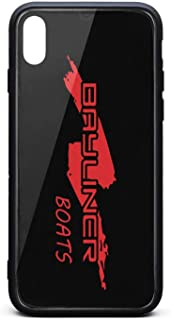 SDHAK Bayliner-Boats-Logo-Reds- Phone Case for iPhone Xs max, Shock-Absorption Hard Back Cover Bumper Protective