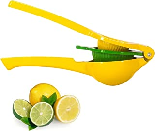 Lemon Squeezer, New Premium Quality Metal Lime Squeezer Manual Citrus Press Juicer 2-in-1 with Long Handle Spoon By Best shop 2016