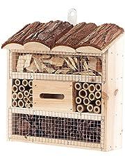 Royal Gardineer Colmenar: Hotel de Insectos Marie, Ayuda para la anidación de Insectos benéficos, 20 x 20 x 7 centímetros (Casas de Insectos)