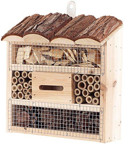 Royal Gardineer Bienenhaus: Insektenhotel Marie, Nisthilfe für Nützlinge, 20 x 20 x 7 cm (Nisthaus)