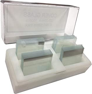 Dukal Pack of 100 Square Microscope Cover Glasses 22 mm x 22 mm. 1 oz Transparent Micro Glass Cover Slips #1, 13-17mm Clea...