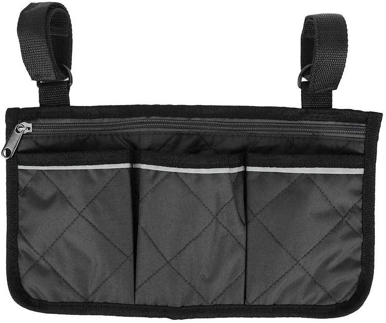 Keen so Wheelchair Side Bag with Pouches, Multifunctional Wheelc
