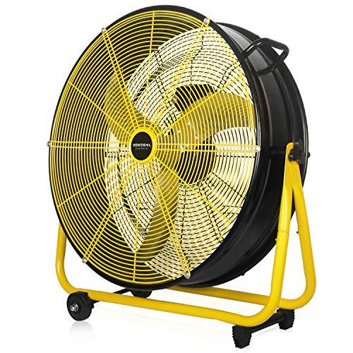 VENTISOL 24 Inch Energy Efficiency 120W Heavy Duty Drum Fan with...