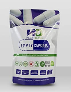 1000 Empty Gelatin Capsules Size 0 Natural. Halal. Kosher. Hypoallergenic. Non GMO. Manufactured in Canada