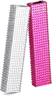 iced Out Juul Cover Skin Made with Hard Material to Protect Juuls, Pink with Diamonds, Silver with Diamonds, Gold with Diamonds by Arget (Silver)