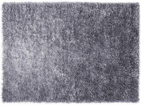 ESPRIT Cool Glamour Moderner Markenteppich, Polyester, Silber, 200 x 140 x 5 cm