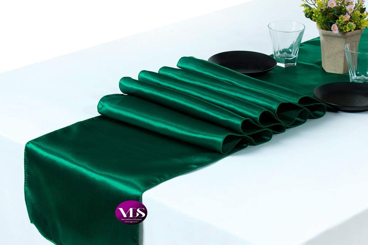 VDS - 25 PCS 12 Wholesale x 108 inch Table Manufacturer regenerated product Banque Wedding for Satin Runner