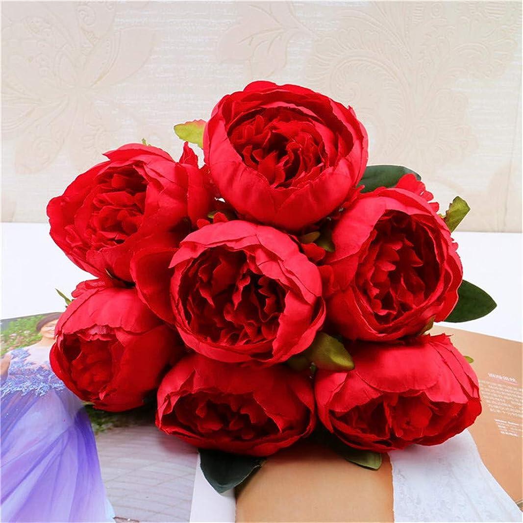 支援する帰するシェルシャオメイスター 造花 牡丹 花びら 結婚式 家の装飾 シャクヤク シルクフラワー ブーケ インテリア デコレーション用 7頭