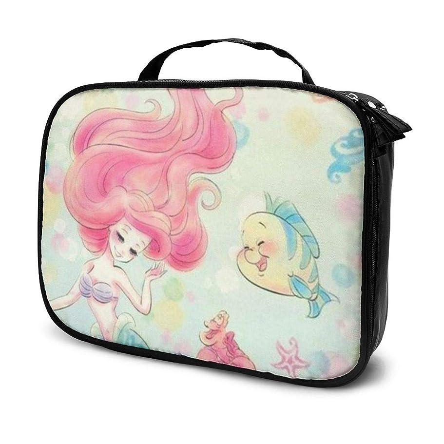 移行お手入れ感謝するDaitu人魚姫 化粧品袋の女性旅行バッグ収納大容量防水アクセサリー旅行