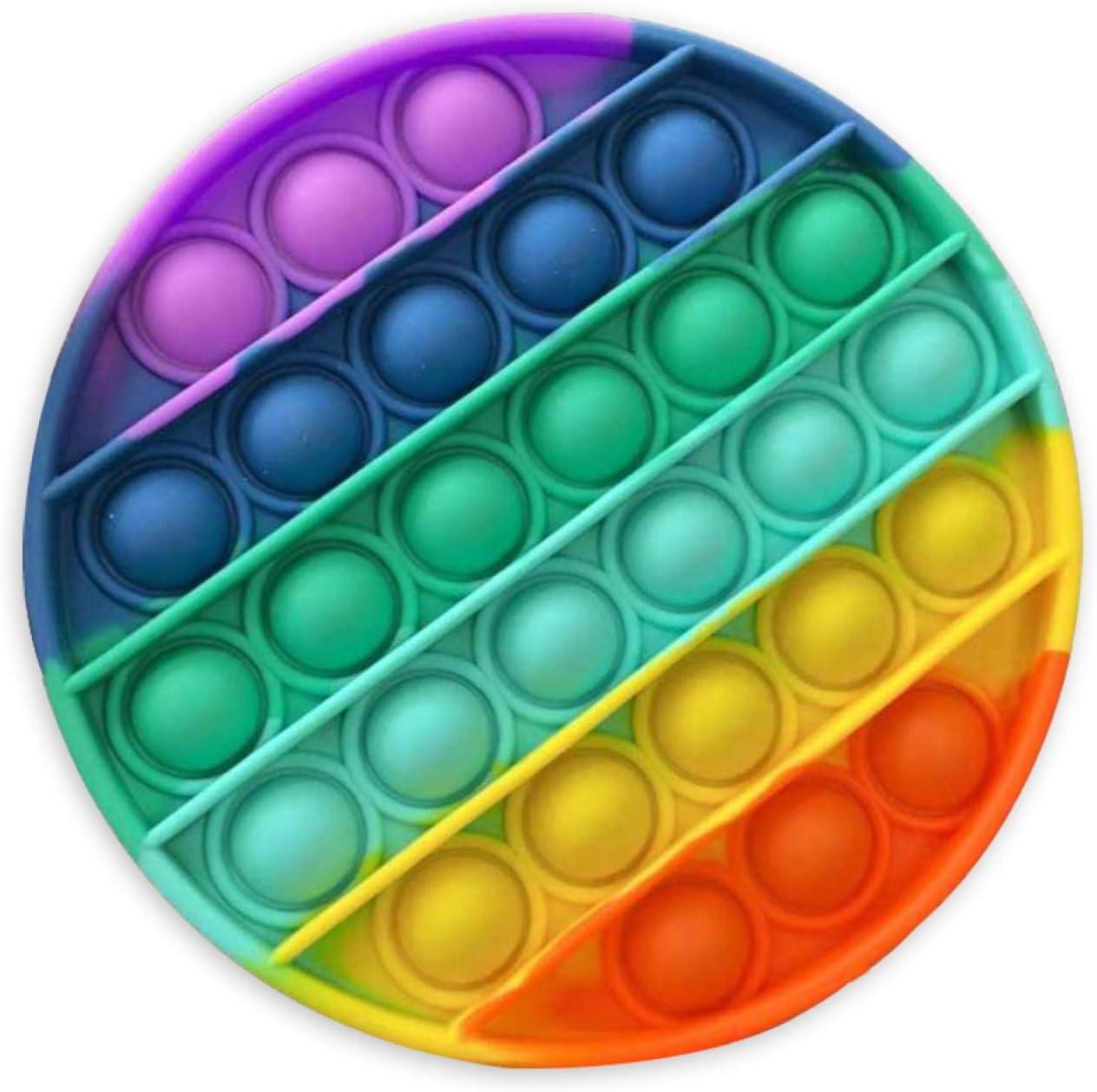 MUSJOS Push Pop Bubble Sensory Fidget Toy Giocattoli per autismo con bisogni Speciali,Ottagono-Arancio Giocattoli Antistress e Anti-ansia per Bambini e Adulti Pop it Fidget Toy
