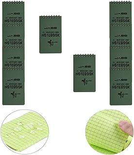 "LZYMSZ 10PCS Waterproof Notebook, All Weather Waterproof Tactical Resistant Spiral Note Books, 3"" x 5"" Pocket Notepad Memo..."