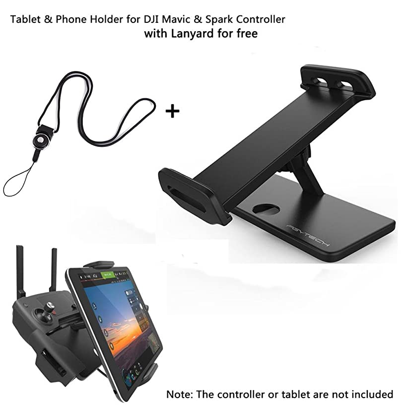 PGYTECH Aluminum-Alloy Foldable Bracket Extender 4-12 Inches Tablet Stander Mobile Phone Stand Holder with Lanyard for DJI Mavic and DJI Spark Remote Controller (Holder2)